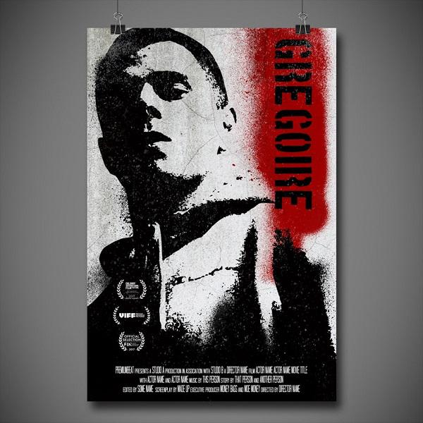 Постер к фильму в стиле стрит-арт