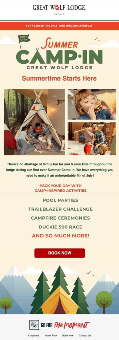 Лето начинается здесь. Здесь ничто не помешает вашему семейному отдыху — у нас есть все, чтобы вы и ваши дети провели незабываемый праздник 4 июля Широкий выбор активностей