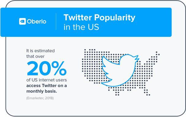 Известно, что более 20% интернет-пользователей в США ежемесячно просматривают Twitter