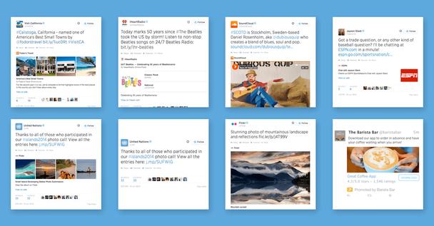 Карточки Твиттер