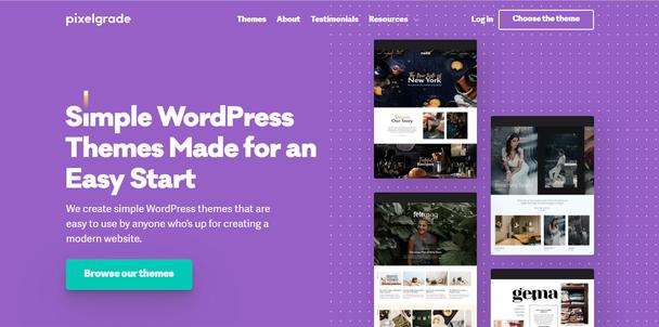 «Простые WordPress темы для быстрого старта. Мы разрабатываем простые темы для WordPress, доступные всем, кто хочет создать современный сайт. Смотреть темы»