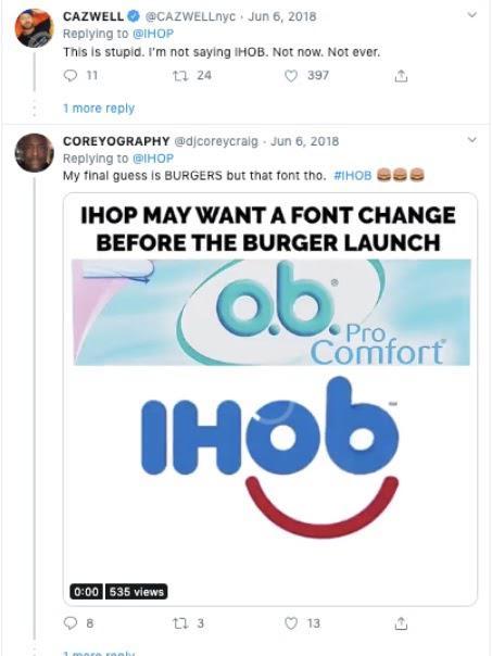 Это глупо. Я не говорю IHOB. Не сейчас. Никогда.