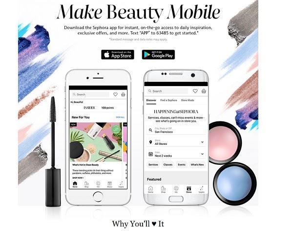 """Сделайте красоту мобильной Скачайте приложение Sephora и получите доступ к ежедневному вдохновению, эксклюзивным предложениям, и многому другому. Просто отправьте сообщение """"APP"""" на номер 63485."""