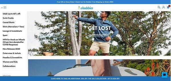 Интернет-магазин одежды Chubbies