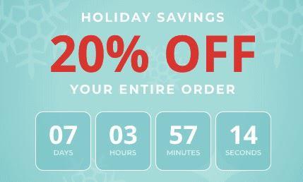 Праздничные скидки 20% на весь заказ [осталось] 7 дней 3 часа 57 минут 14 секунд