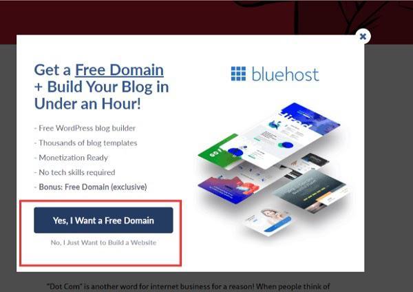 Получите бесплатный домен и создайте блог менее чем за 1 час! (...) Кнопка «Да, я хочу бесплатный домен» Кнопка «Нет, я просто хочу создать сайт»