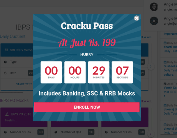 Cracku call to action