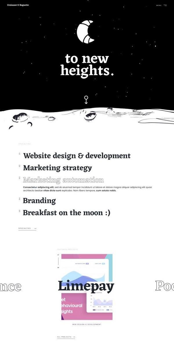 Дизайн одноколоночного макета сайта
