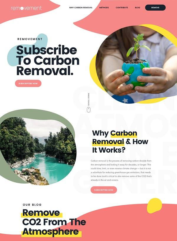 Двухколоночный дизайн макета сайта