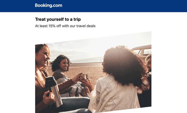 Рассылка в рамках рекламной акции «Скидка не менее 15% на наши туристические предложения».