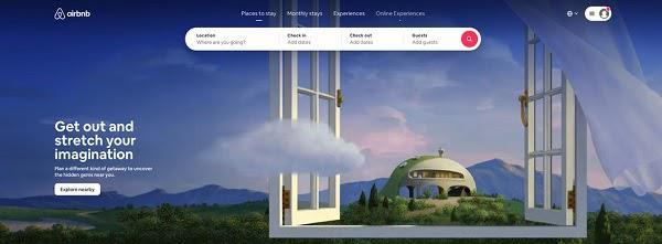 Домашняя страница AirBnb
