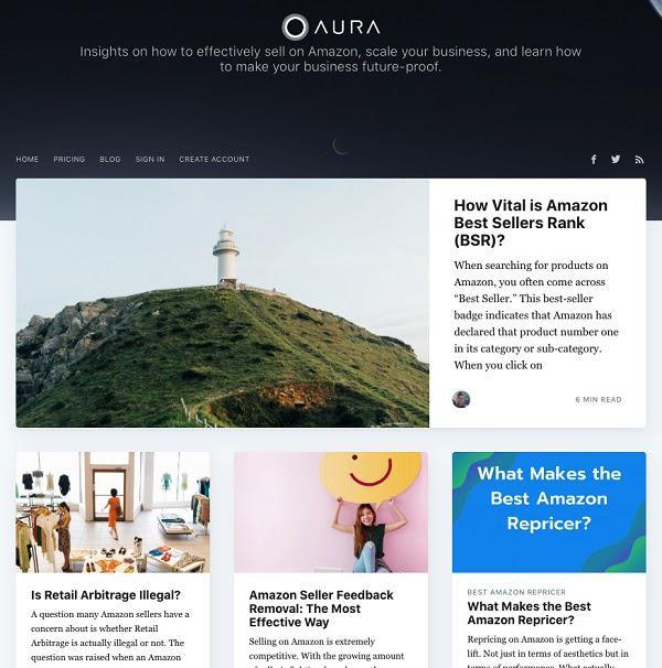 Aura использует блог, чтобы превратить свой сайт в полезный инструмент
