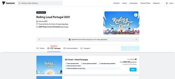 На Festicket пользователи могут забронировать как отдельные услуги, так и пакет «все включено»