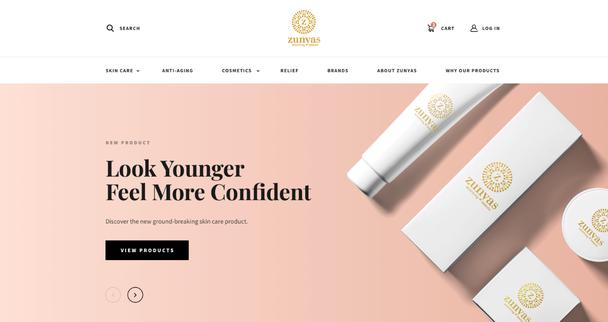 Главная страница другого косметического бренда