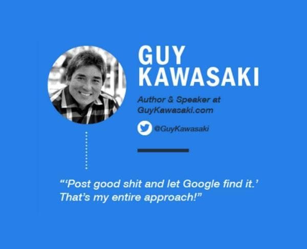 «Публикуйте качественный материал и сделайте его видимым для Google. В общем, это и есть мой подход», — Гай Кавасаки