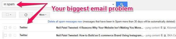 Самая большая проблема электронных писем — риск попасть в спам