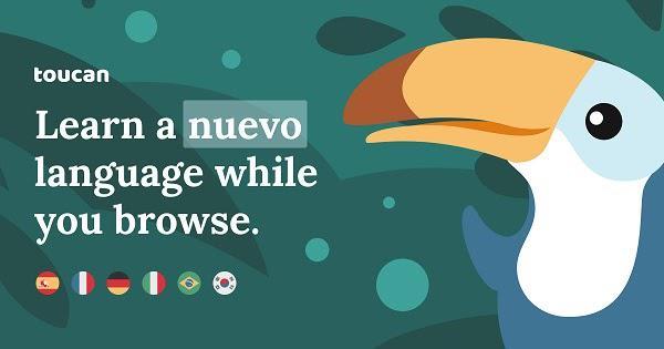 Toucan «Изучай новый язык во время просмотра веб-страниц»