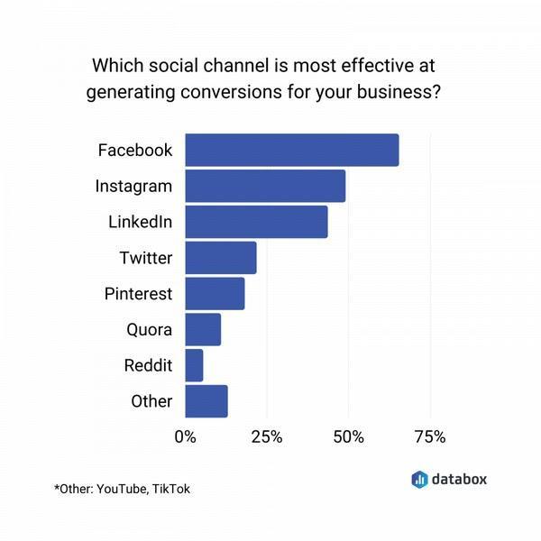 Какая из социальных сетей наиболее эффективна в деле лидогенерации для вашего бизнеса?