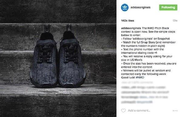 розыгрыш кроссовок NMD Pitch Black от Adidas