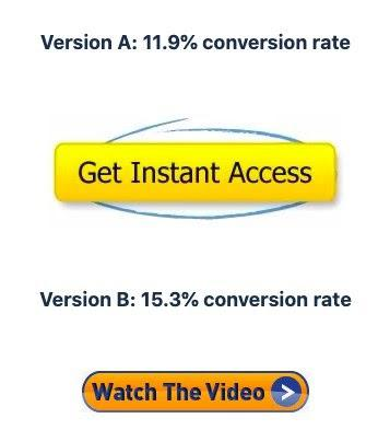 Версия А («Получить мгновенный доступ»): коэффициент конверсии — 11.9% Версия В («Смотреть видео»): коэффициент конверсии — 15.3%