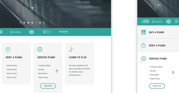 На этом сайте пользователи легко могут сворачивать и разворачивать подробный контент.