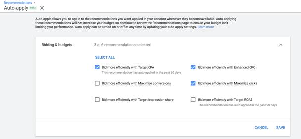 Google Ads предлагает рекламодателям воспользоваться преимуществами автоматических стратегий управления ставками