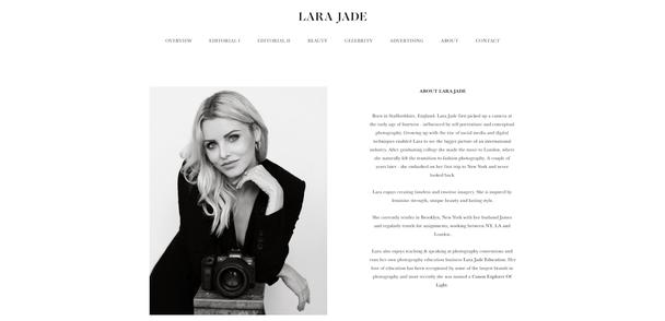 Сайт фотографа Lara Jade
