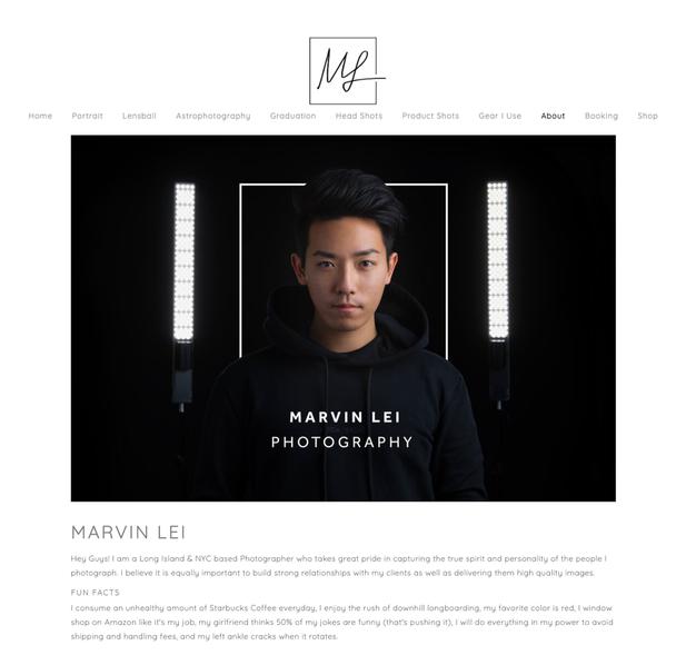 Сайт фотографа Marvin Lei