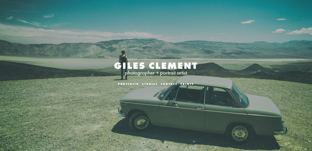 Сайт фотографа Giles Clement