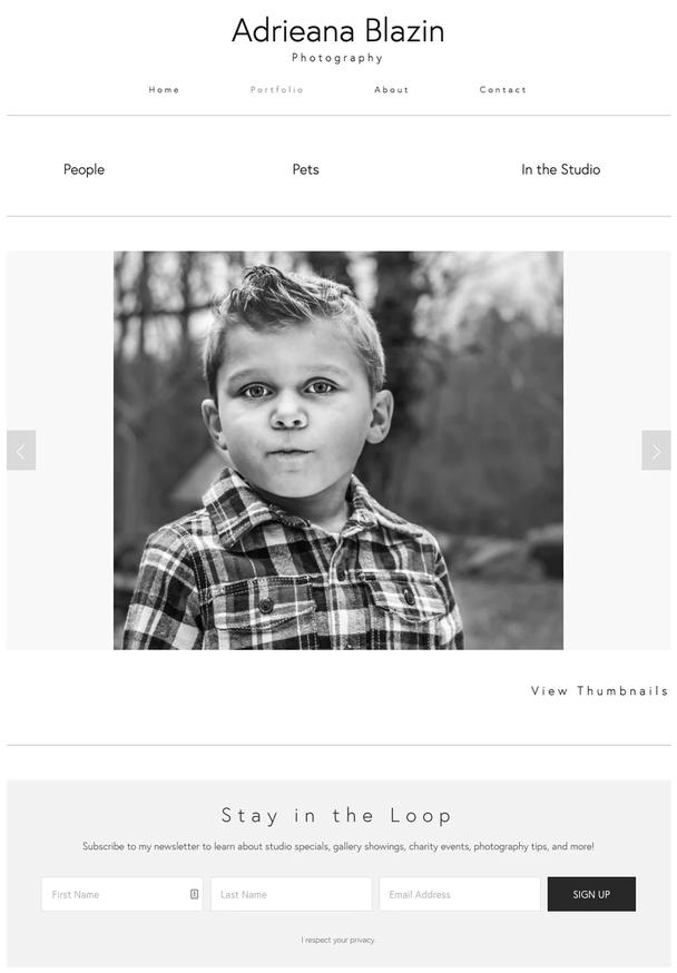 Сайт фотографа Adriana Blazin Photography