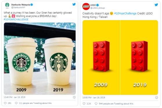 Starbucks: Каким же потрясающим был этот путь! Наша сирена определенно расцвела. #10летчеллендж LEGO: Креативность не стареет #10летчеллендж